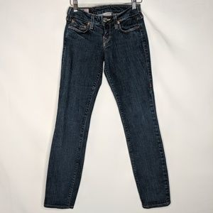 True Religion Stella Skinny Ankle Jeans Dark Wash
